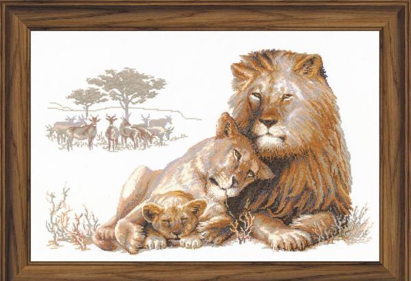 Композиция с изображением львов является прекрасным элементом декора, который хорошо впишется в любой интерьер