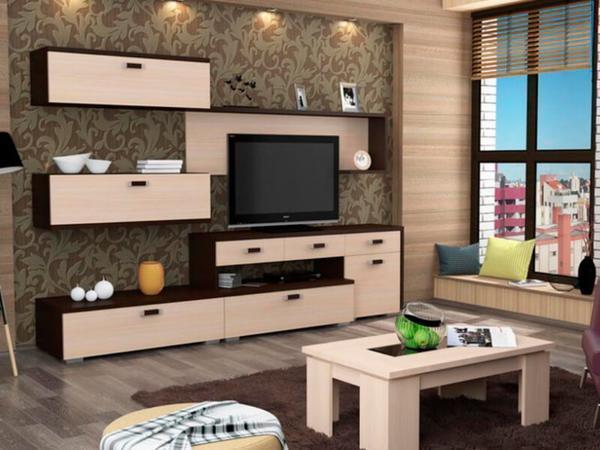 Навесная мебель является функциональной и достаточно удобной в использовании