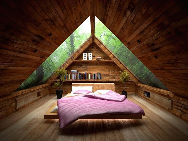 Кровать следует размещать по центру комнаты, а другие предметы интерьера ставит вдоль стен