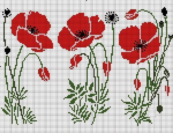 Чтобы картина триптих вышла яркой и красивой, используйте для ее вышивания несколько ниток