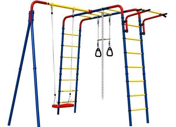 Детские дачные лестницы и турники можно установить как на улице, так и в доме