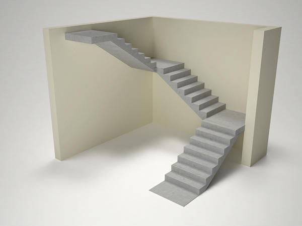 Наиболее часто П-образные лестницы используются в многоквартирных домах