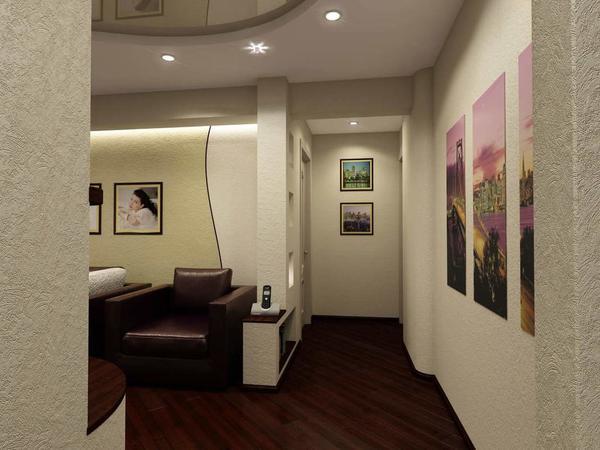 Гипсокартонная перегородка – это отличный способ стильно разграничить пространство гостиной и прихожей