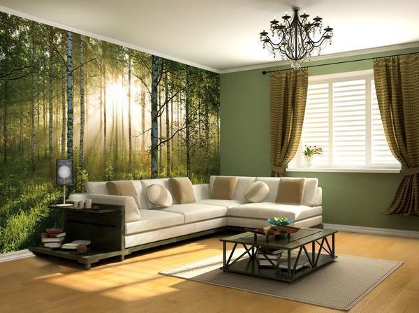 Недорогой и практичный вариант – фотообои, которые сделают комнату по-домашнему уютной и теплой, или строгой и лаконичной