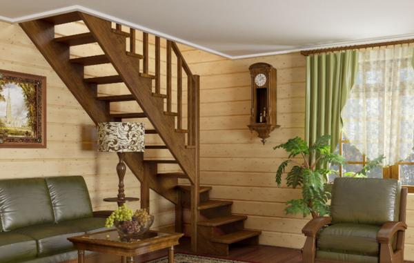 Дачные лестницы могут отличаться по форме, типу и материалу, из которого они изготовлены