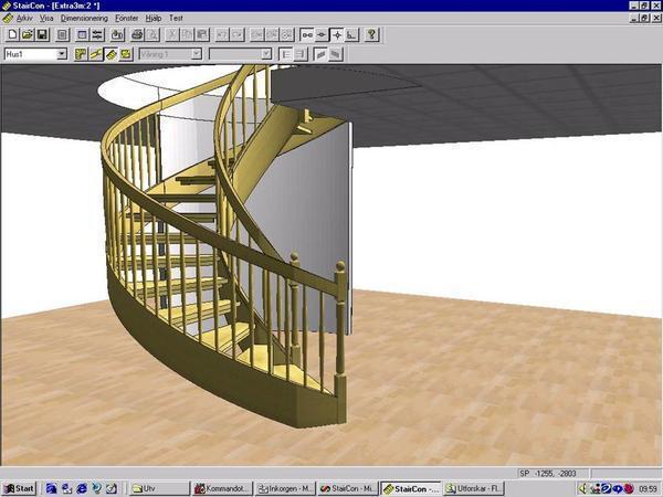 Получить 2 или 3D модели лестниц можно при помощи специализированных программ для моделирования