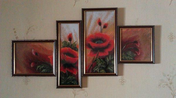 Рамки должны соответствовать цвету фона или оттенкам элементов триптиха