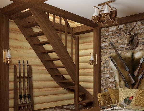 Готовые лестницы: деревянные на второй этаж, входных производитель, в доме 2 Profi Hobby, заготовки серийные