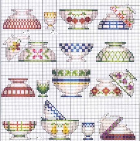 Существует множество схем для вышивания, которые отлично подойдут для кухни в качестве декора