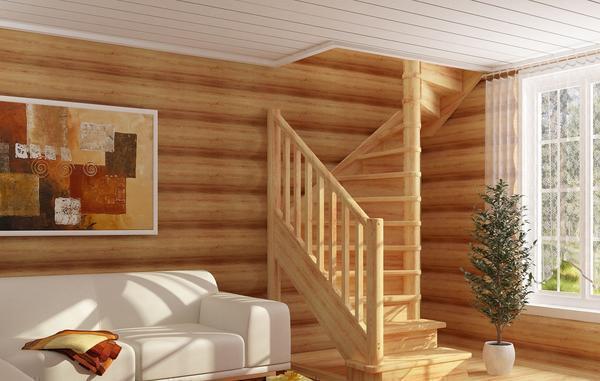 Ширина лестницы должна быть такой, чтобы на ней свободно могли разминуться 2 человека