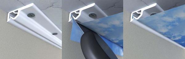 Минимально допустимый размер отступа для натяжного потолка составляет один сантиметр