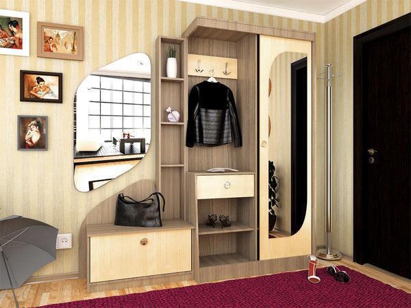 Мебель цвета шимо поможет визуально увеличить пространство в коридоре