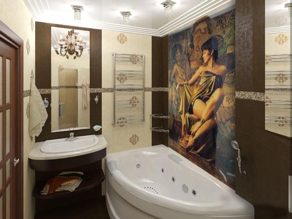 Стеклянное панно в ванной комнате - решение для тех, кто ценит практичность выше всего