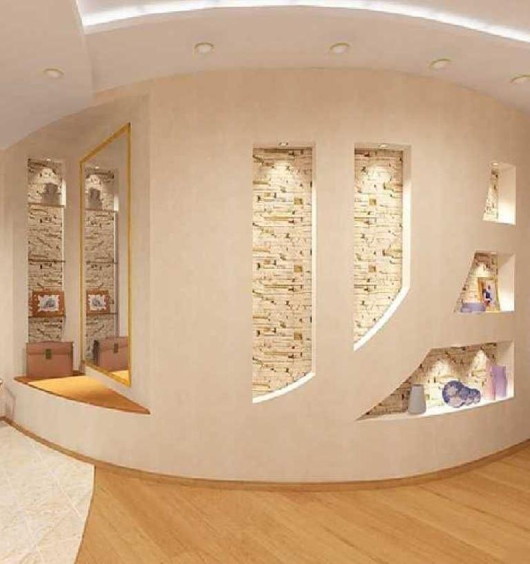 Фото декор из гипсокартона стены прихожая