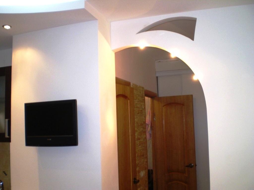 большинство фото арок из гипсокартона на кухню искусное исполнение, креативность