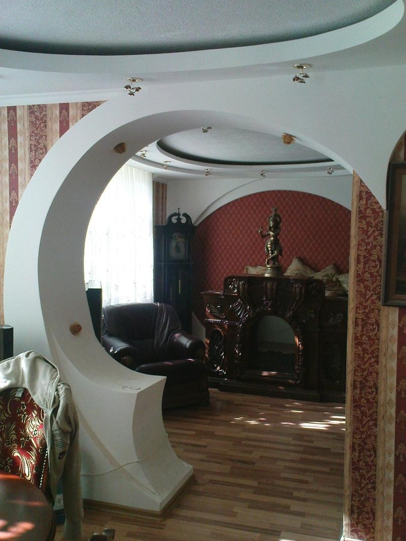 интересные арки из гипсокартона фото подобрать