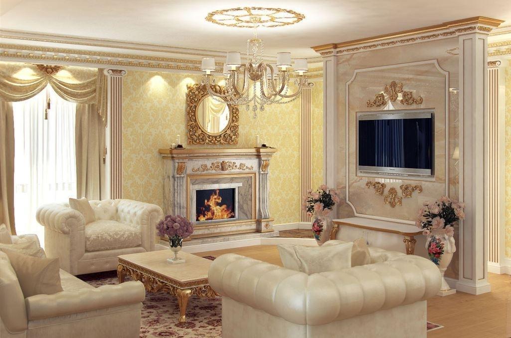 красивый классический дизайн квартир фото покажу вам