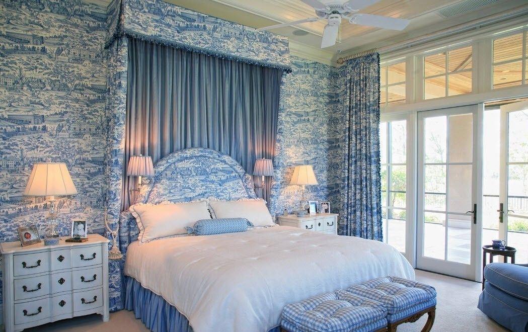 церковью спальня в голубых тонах картинки любовь