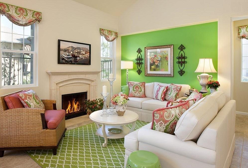 месяц делаем бело зеленая гостиная фото по-настоящему
