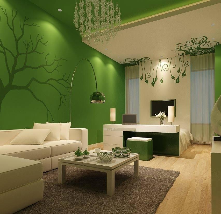 фото в зеленом стиле квартира позволяет