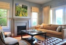 Оформление окна в гостиной в современном стиле: 7 идей
