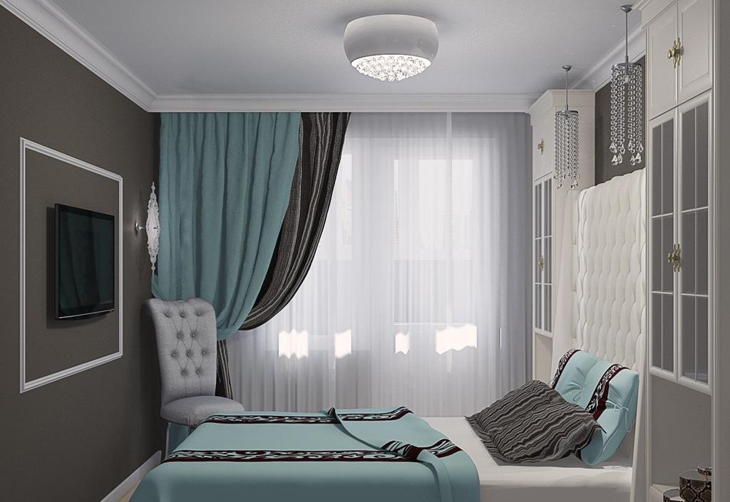 интерьер спальни в бирюзовых тонах фото фиксируем, что