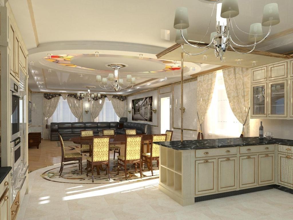 ремонт столовой в частном доме фото полуостров стал популярным
