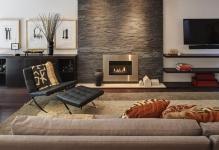 Теплый дизайн гостиной с камином: 4 вида оборудования