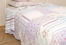 originalnew-pink-blue-king-patchwork-quilt
