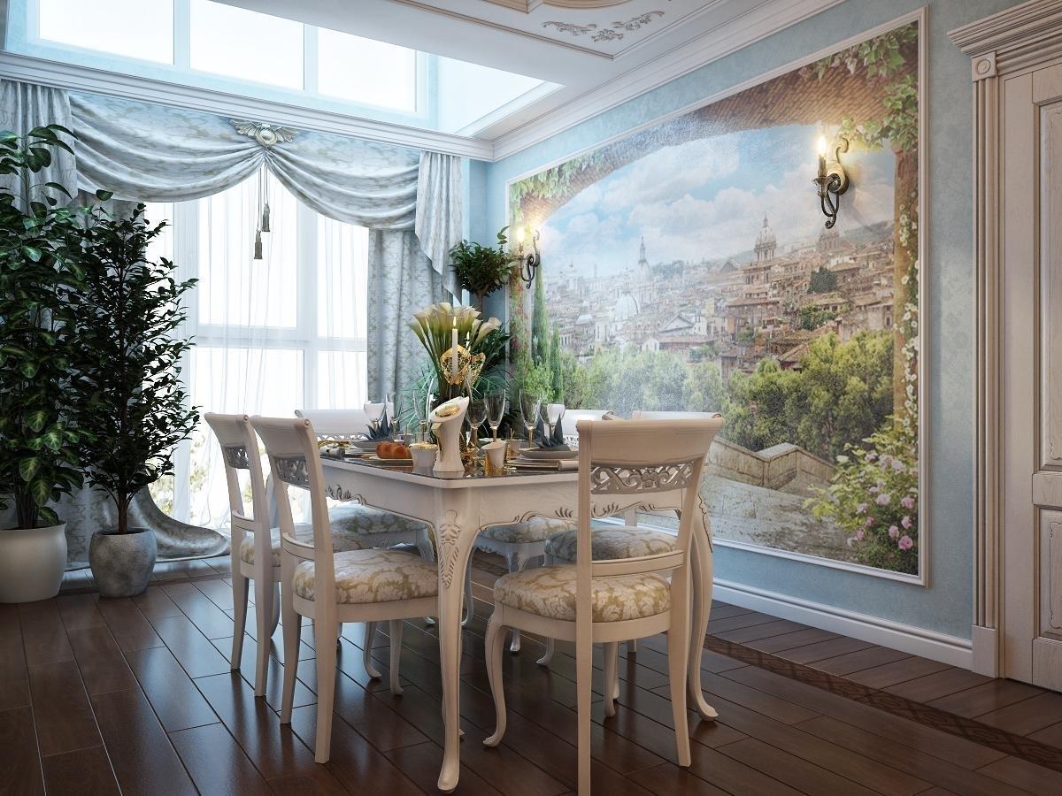 работы картинки интерьеров с фресками чистый отель уютный
