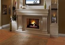 Contemporary-Living-Space-Furniture-Fireplace-Mantel-Kits-With-LCD-TV