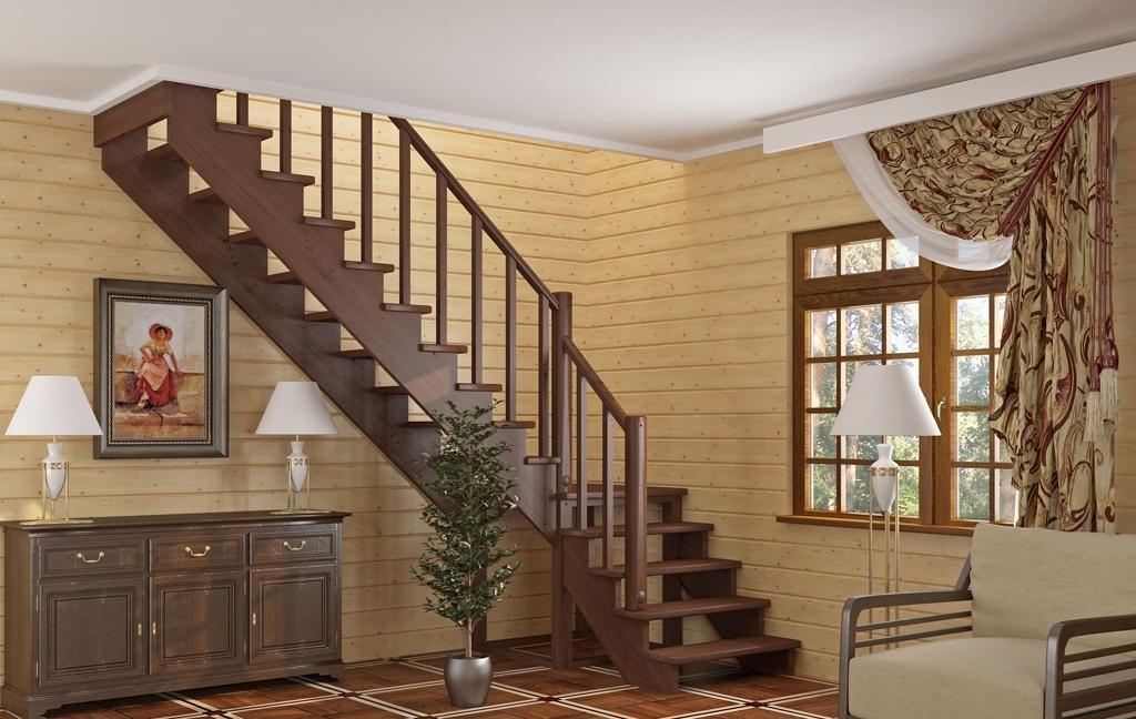 Лестницы на второй этаж в коттеджах фото