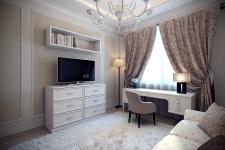 zona-tv-s-komodom-v-kabinete-v-stile-neoklassika