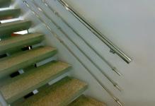 Прочные и красивые поручни для лестниц из нержавейки