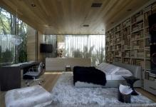 Bedroom-with-glass-walls-and-wood-ceiling-interior-design-ideas