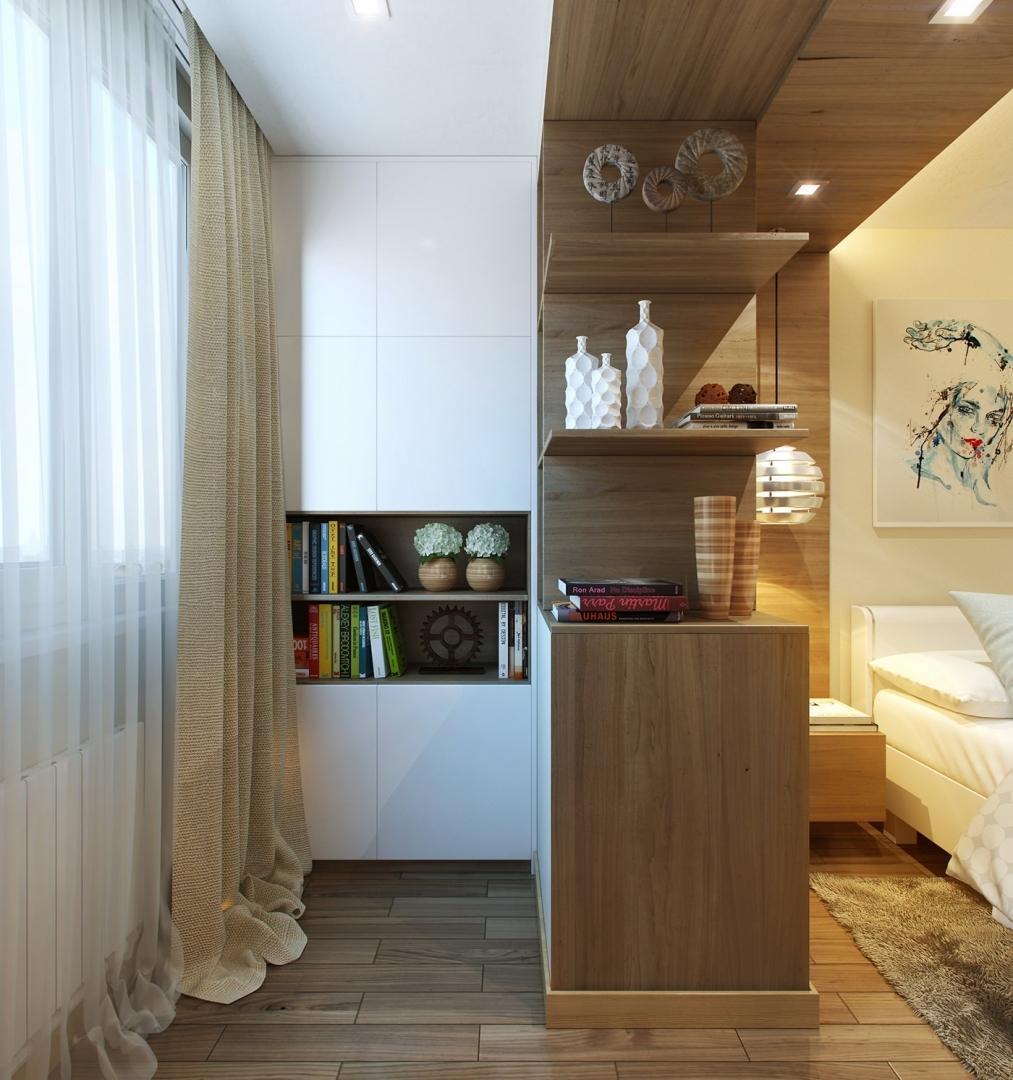 совмещение балкона и комнаты дизайн фото лук