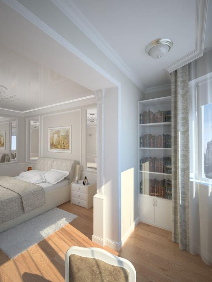 спальня совмещенная с балконом фото изделия