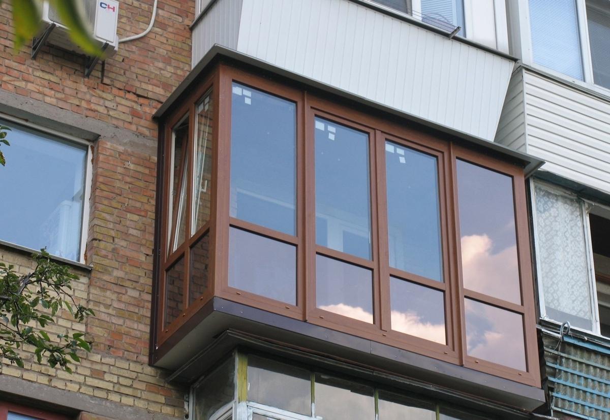 Красивые застекленные балконы фото