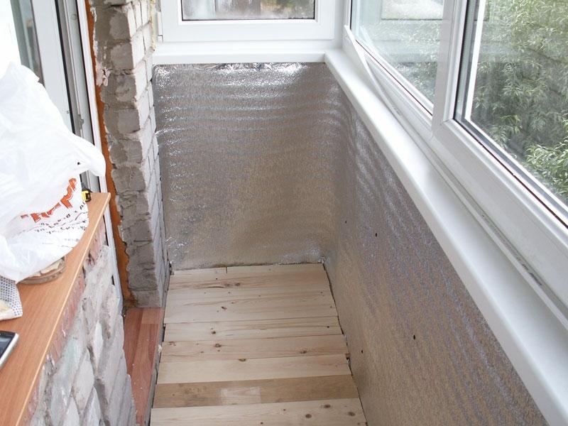 утепление открытого балкона