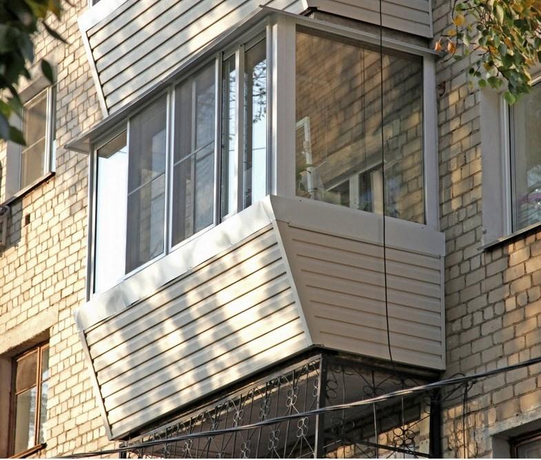 внешняя отделка балкона сайдингом видео