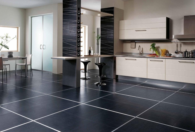 Плитка на пол в кухне картинки