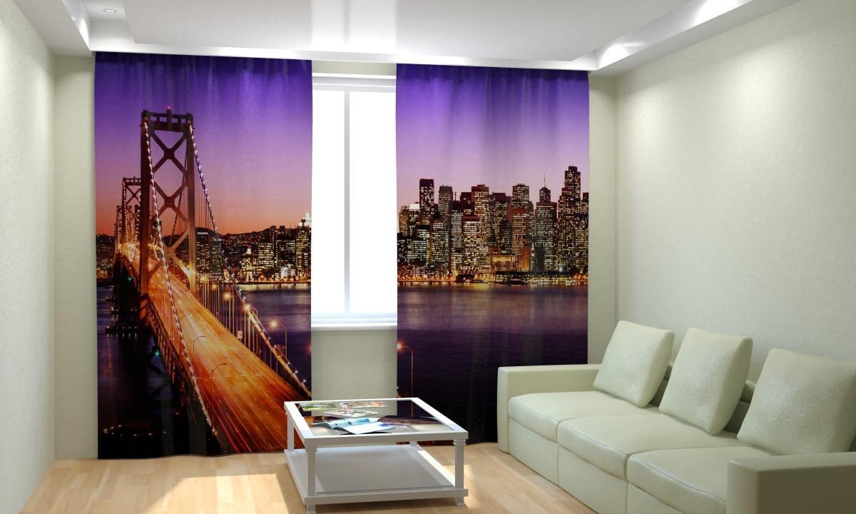 Дизайн фотошторы в квартире