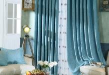 Simple-Blue-Linen-Bedroom-Blackout-Curtains-CMT8997-1