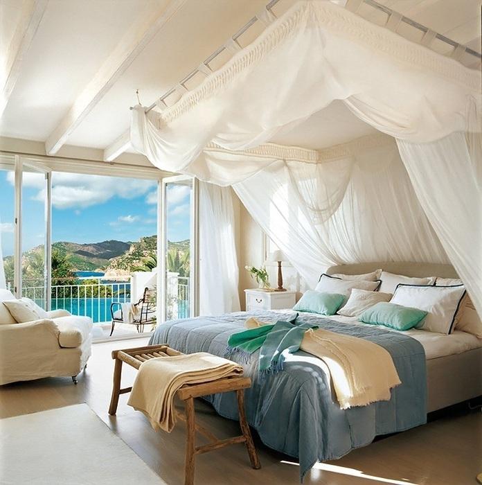 Картинки комнаты с кроватью и большим окном