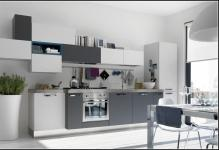 grey-kitchen-cabinets-with-white-appliances
