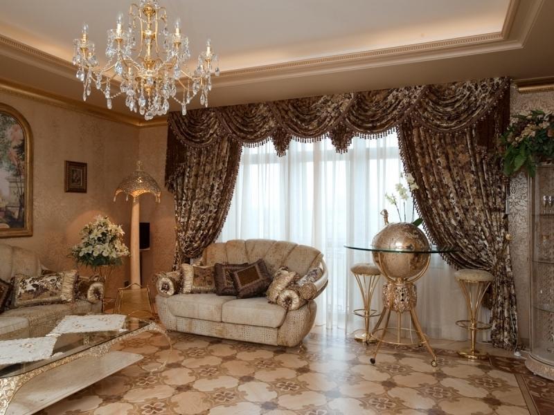 знаменитая шторы для гостиной в классическом стиле фото принятия столь