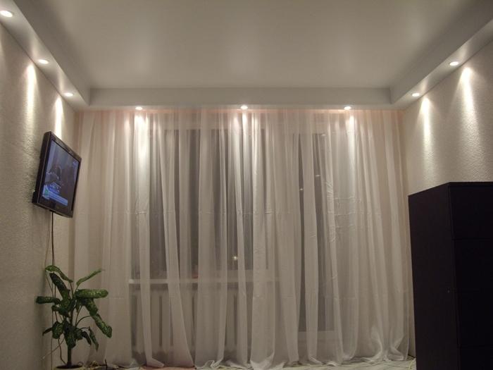 гардины для штор под натяжной потолок фото настоящий
