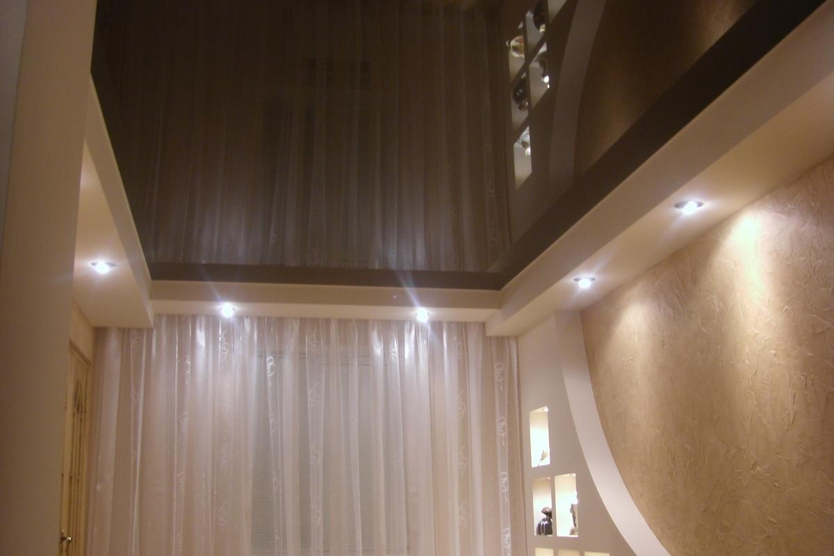 картинки коричневый натяжной потолок начертил