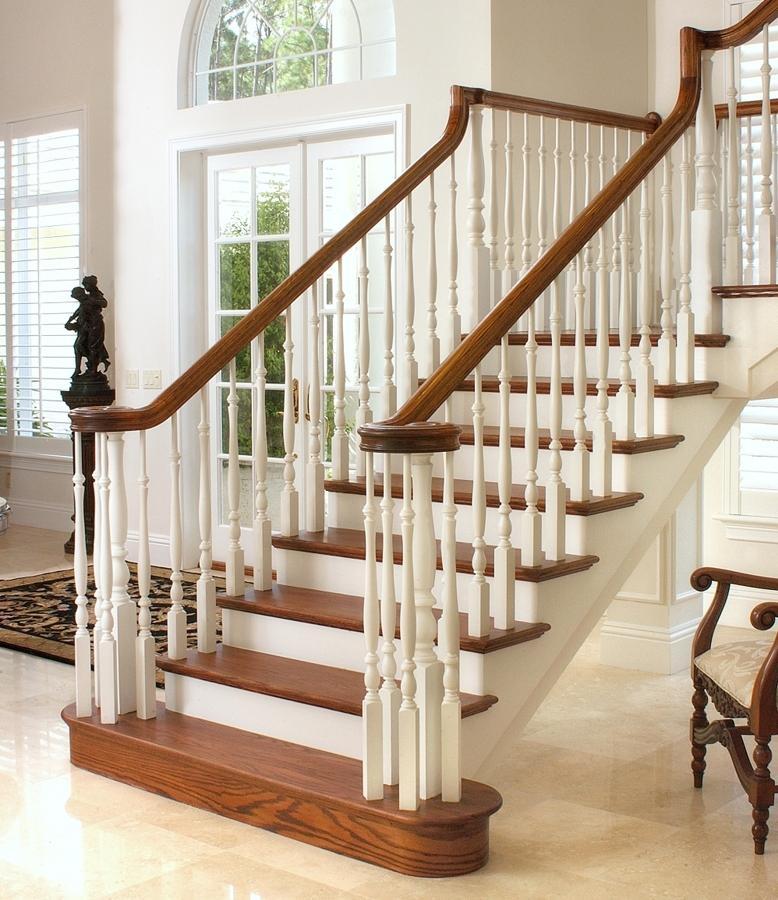 перила для лестницы из дерева фото местных проявлений