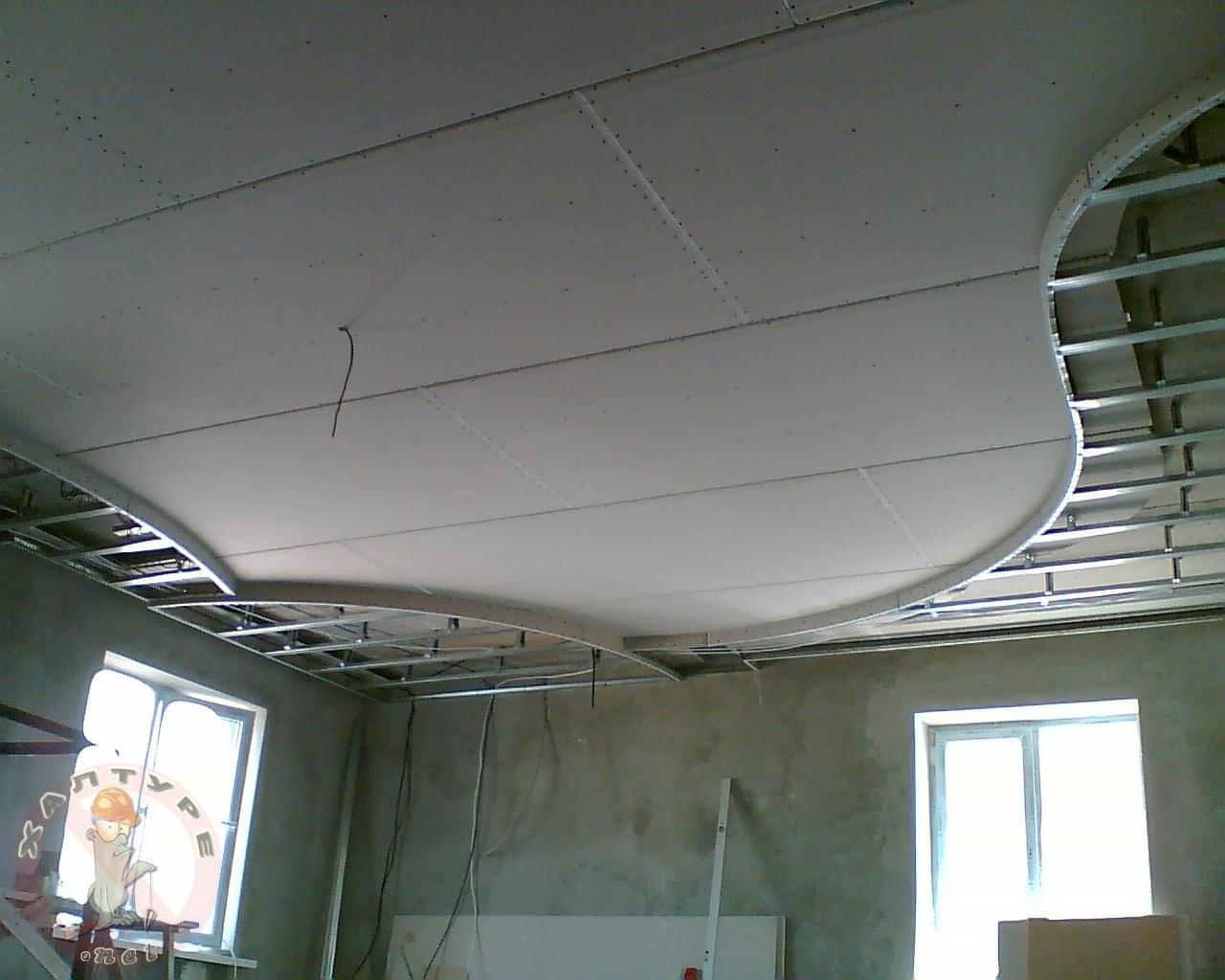 предполагают, что как сделать навесной потолок своими руками фото расстояние